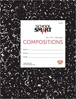 School Smart Stiff Picture/Story Composition Book, 100 Sheets, 9-3/4 x 7-1/2 Inches