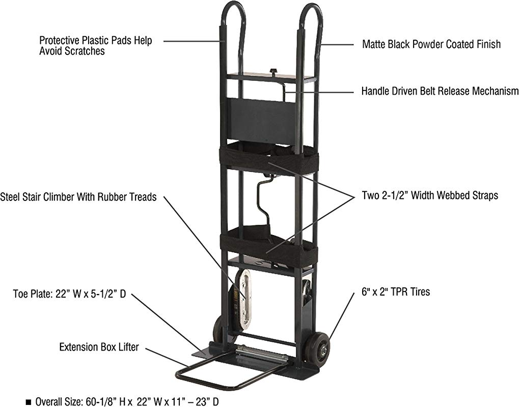 Pack N Roll 85 038 Appliance Hand Truck Pound 800 Lbs Capacity