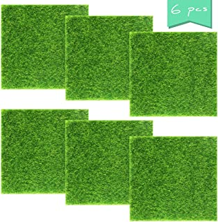 Neworkg 6 Pack Life-Like Fairy Artificial Grass Lawn, Artificial Garden Grass, Ornament Garden Dollhouse for DIY Decorations(6