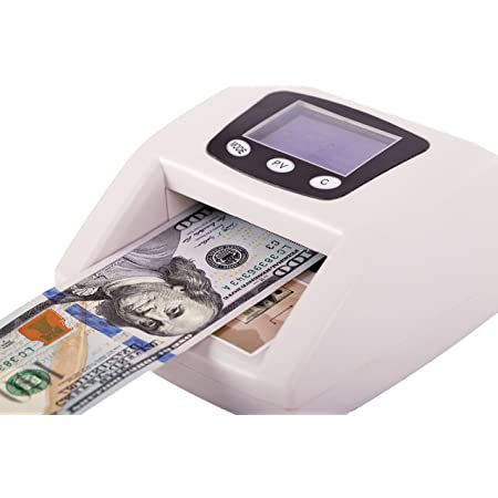 Checks for UV Ultraviolet Paper Quality and Size. Khippus K605 Counterfeit Bill Detector for US Dollars Infrared IR Magnetic MG