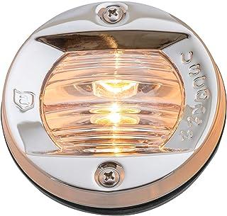 attwood 6356D7 Round Incandescent Marine Boat 3-Inch Flush Transom Light with 7.5-Watt Lamp