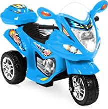 Best Choice Products Kids 6V Electric 3-Wheel Motorcycle Ride On, LED Lights/Sound, Storage, Blue