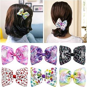 5inch Rhinestone Center Boutique Cheer Bow Hair Barette Pink