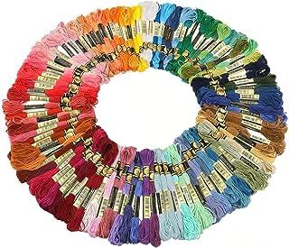 Cleana Arts 50 verschiedene Farben Kreuzstich Baumwolle Stickgarn Sticktwist