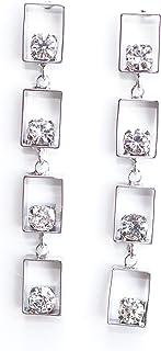Sansar India Dangler Earrings for Women (Silver) (407)