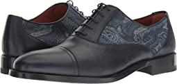 Paisley Printed Cap Toe Oxford