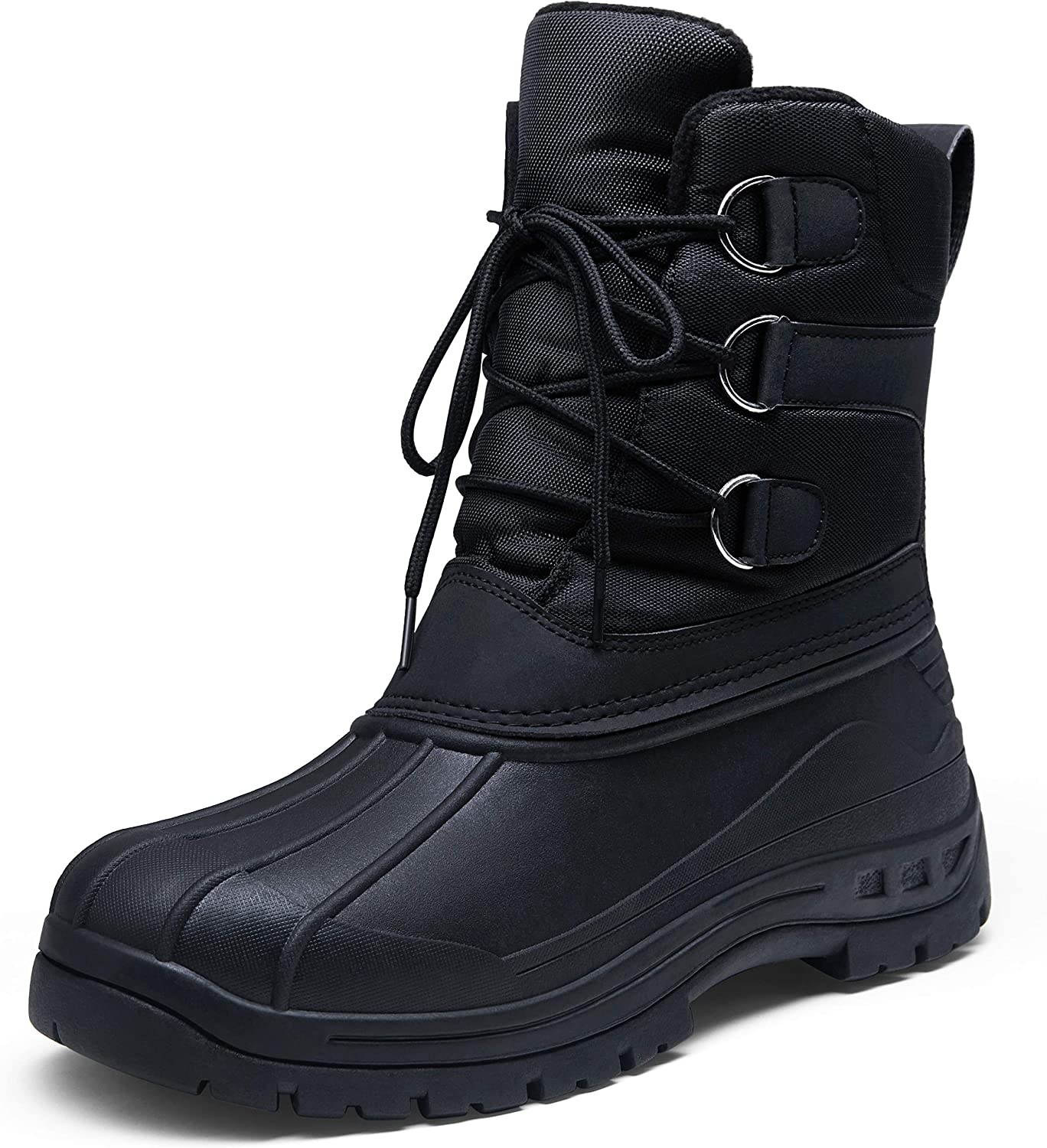 JOUSEN Mens Winter Boots Lightweight Waterproof Snow Boots for Men Cold Weather Warm Mens Boots