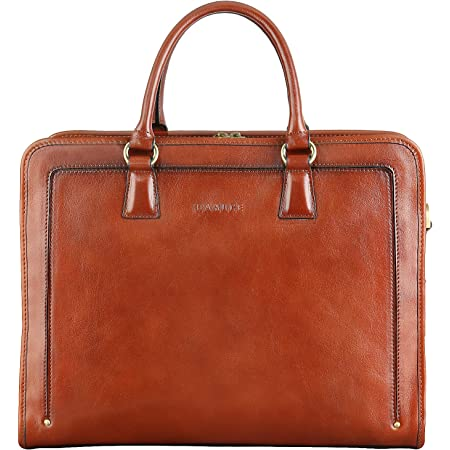 Made with premium Spanish cowhide leather. magnetic closure and interior pocket Leather briefcase style bag with crossbody strap