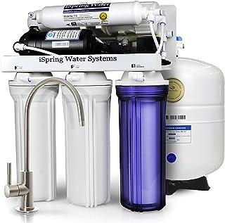 comprar comparacion Sistema de filtrado de agua iSpring 75GPD de ósmosis inversa de 5 etapas con bomba potenciadora, modelo RCC7P