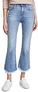 7 For All Mankind Women's Cropped Ali Jean with Scallop Raw Hem