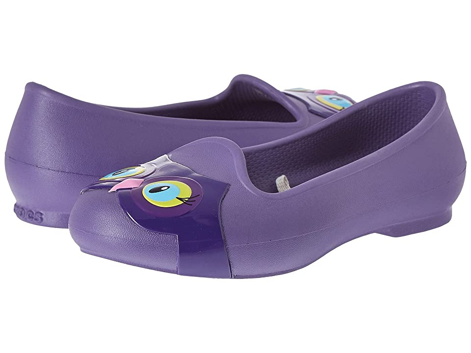 Crocs Kids Eve Animal Flat (Toddler/Little Kid) (Blue Violet) Girls Shoes