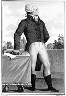 Maximilien Robespierre N(1758-1794) French Revolutionist Aquatint Italian Early 19Th Century Poster Print by (24 x 36)