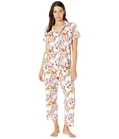 BedHead Pajamas Short Sleeve Cropped Pajama Set (Wild Flowers) Women