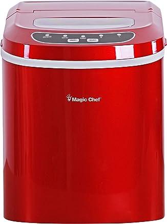 Magic Chef MCIM22R 27-Lb. Portable Red Countertop Ice Maker, 27 lb,