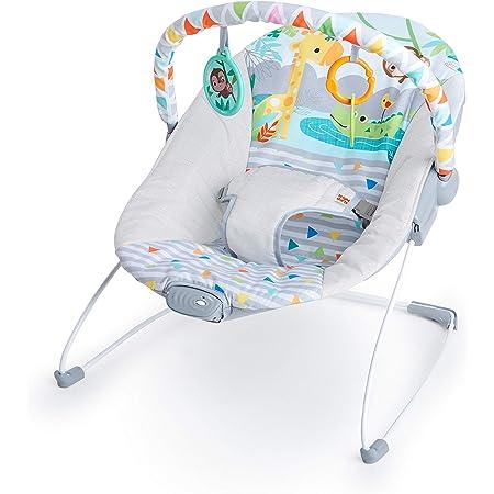 Bright Starts, Hamaca bebé con vibraciones y arco de juego - Safari Fun