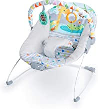 4moms bounceRoo Babyschaukel Babywippe mit Spielbogen und drei einstellbaren Vibrationsstufen Plush multi