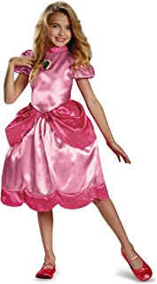 Nintendo Super Mario Brothers Princess Peach Classic Girls Costume, Medium/7-8