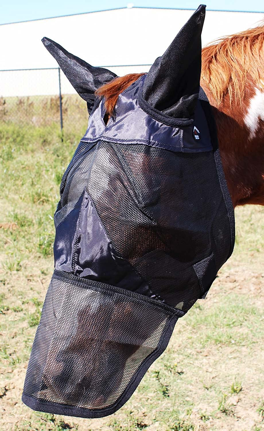 CHALLENGER Equine Horse Fly Mask Summer Spring Airflow Mesh UV Mosquitoes 73288