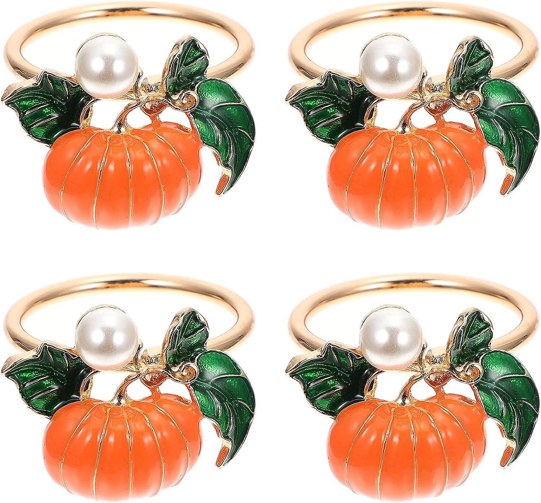Mesa Mall FRCOLOR 4pcs Halloween Napkin Harvest Pumpkin Rings free shipping Holde