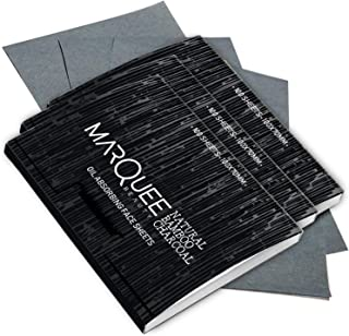 (3 PK) Oil Blotting Sheets- Natural Bamboo Charcoal Oil Absorbing Tissues- 100 Pcs Organic Blotting Paper- Beauty Blotters...