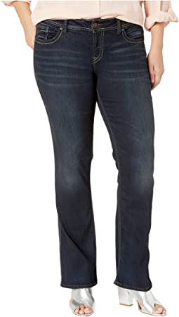 Plus Size Suki Mid-Rise Perfectly Curvy Slim Boot Jeans in Indigo