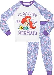 "Girls Official Disney Princess /""Ariel Little Mermaid/"" Character Pyjama Set 4-10"