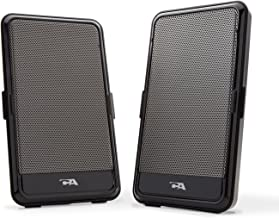 2.0 Portable USB computer speaker - perfect for laptop music, movies or gaming on the go, by Cyber Acoustics (CA-2988)