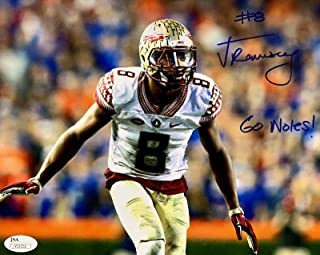 Signed Jalen Ramsey Photograph - 8x10 V31352 - JSA Certified - Autographed College Photos