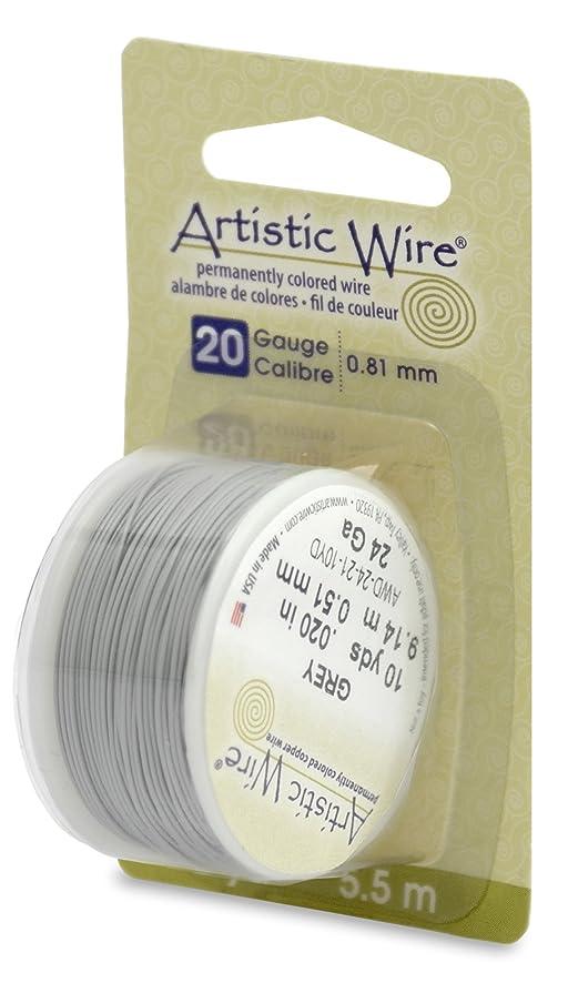 Artistic Wire 20 Gauge Wire, Grey, 6-Yard