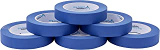 6 Pack 0.94 Inch Blue Painters Tape, Medium Adhesive That Sticks Well but Leaves No Residue Behind, 60 Yards Length, 6 Rolls, 360 Total Yards