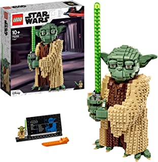 LEGO 75255 Star Wars Yoda Construction Set, Collectable Model with Display Stand, The Attack of the Clones Collection