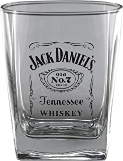 Jack Daniel's Licensed Barware Label Logo Double Old Fashioned Glass