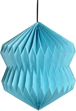 Lalhaveli Paper Decorative Entrance Handmade Hanging Lamps (12.5 X 15-inches, Turquoise)
