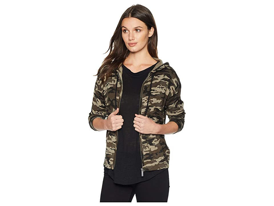 Sanctuary Zip Me Up Hoodie Sweater (Human Nature Camo) Women