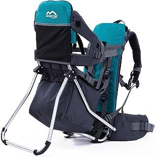 Montis Runner One Ryggsäck för barn upp till 25 kg vikt – inträdeskrax/barnbäraren för båda föräldrarna – utbyggbar med re...