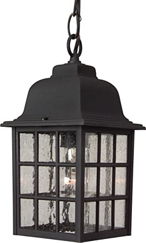 """high quality Craftmade Z271-TB Grid Cage Outdoor Ceiling Pendant Lighting, 1-Light new arrival discount 100 Watt (6""""W x 11""""H), Textured Matte Black outlet online sale"""