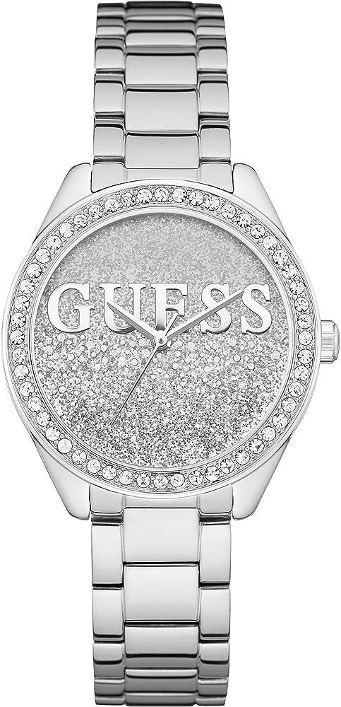 Guess orologio donna. cassa argento acciaio inox W0987L1