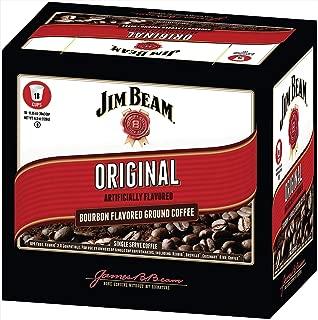 Jim Beam Original Bourbon Flavored Single Serve Coffee, 18 cups, Keurig 2.0 Compatible