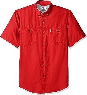 Men's Explorer Short Sleeve Fishing Shirt Solid Button Pocket
