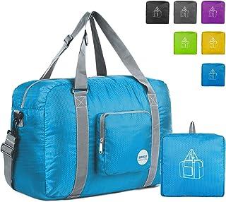 7f6f58b6b599 Wandf Foldable Travel Duffel Bag Luggage Sports Gym Water Resistant Nylon