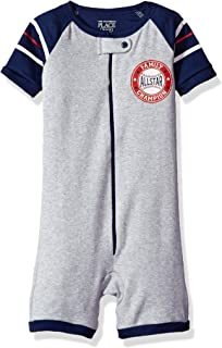The Children's Place Baby Boys' Short Sleeve Stretchie