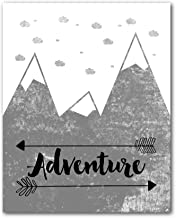Adventure Print, Scandinavian Nursery Mountain Art, 8 x 10 Inches, Unframed