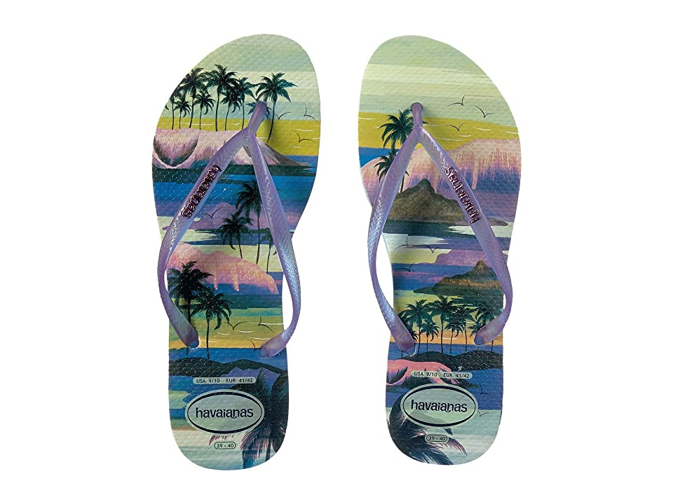 Havaianas Slim Paisage Flip Flops (Mentha Green) Women