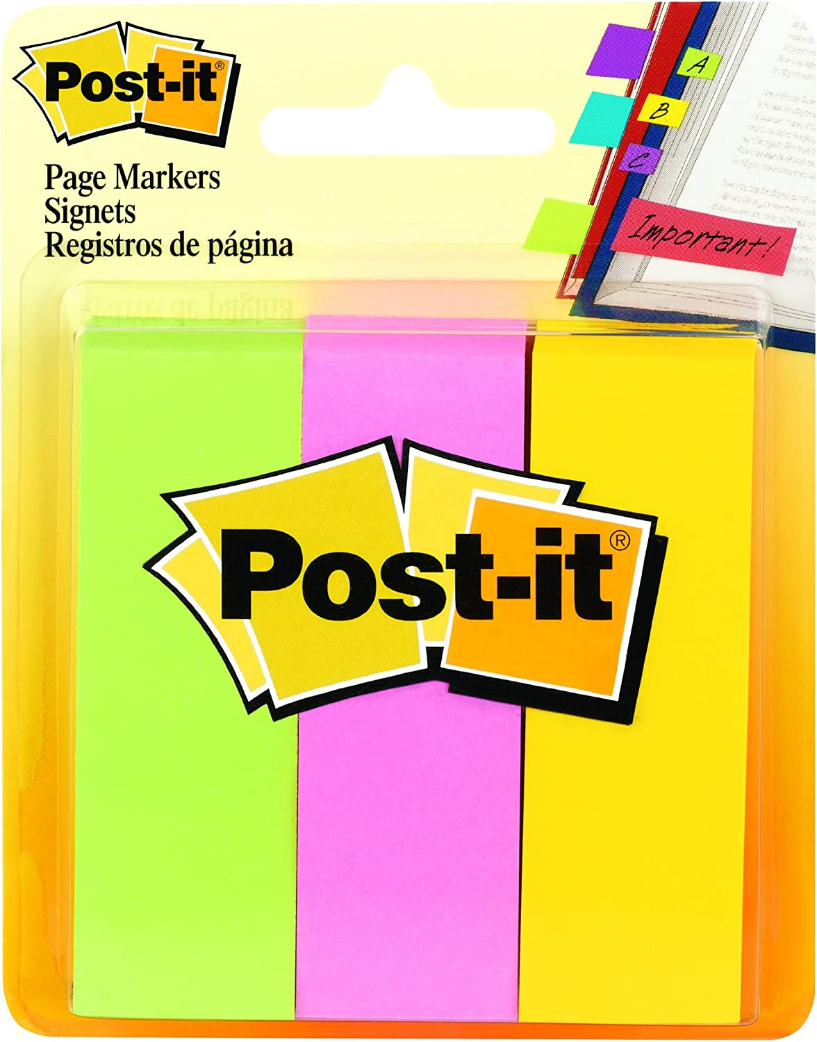 Post-it Page Markers 1 in Cheap super special price x A for 3 Ideal Temporary Be super welcome Marking
