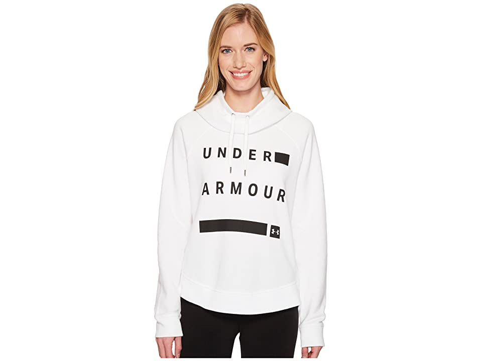 Under Armour Favorite Fleece Graphic Pullover (White/Black/Black) Women