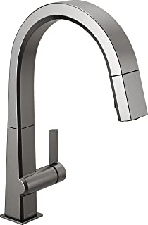 Delta Faucet Pivotal Single-Handle Kitchen Sink Faucet with Pull Down Sprayer and Magnetic Docking Spray Head, Black Stain...