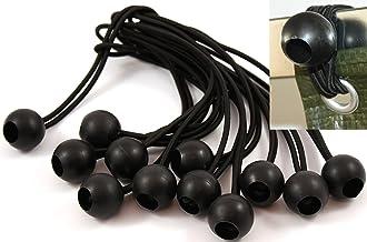 Hoeslampen, zwart, dekzeil, tentzeil, rubberspanner, dekzeil 12 Stück