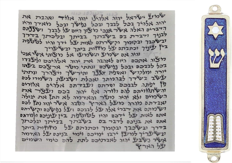 Body-soul-n-spirit Kosher Klaf Scroll Parchment 7cm Sil At the price + quality assurance 2.7