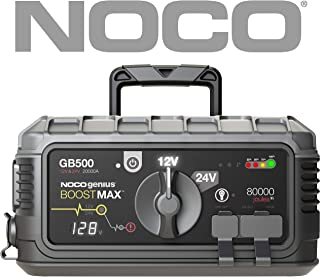 NOCO Boost Max GB500 20000 Amp 12V / 24V UltraSafe Lithium Jump Starter for Gasoline and Diesel Engines and Class 8+ / CE Vehicles