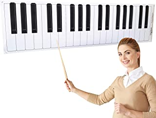 """Dry Erase Piano Keyboard Laminated Poster, 61"""" Inche"""